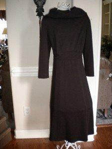 Liz Claiborne Brown Women Dress Cowl Neck Size 12