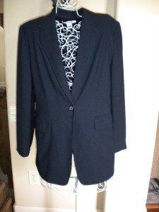 Nygard Collection Women Navy Jacket Blazer Coat Size 12