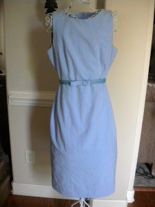 Giorgio Fiortini Collection Blue Sleeveless Dress Sz 10