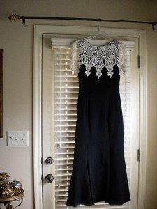 Jessica McClintock Black Lace Dress Vintage Evening S 6