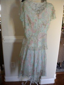 Bob Mackie Green Pink 2 Pc Skirt Outfit Top Set Size 14