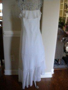 Cachet Ivory Cocktail Evening Asymmetical Dress 12 NEW