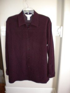 Casual Corner Women Burgundy Shirt Blouse Top L Lg