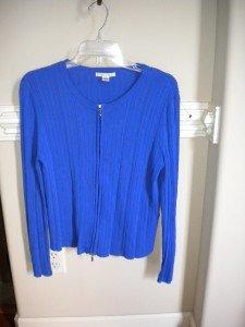 Casual Corner Women Purple Cardigan Sweater Top Size M