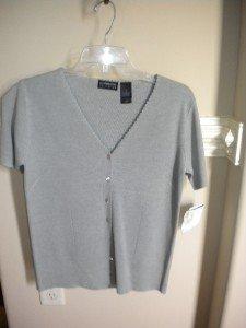 Liz Claiborne Collection Gray Women Silk Sweater S NEW