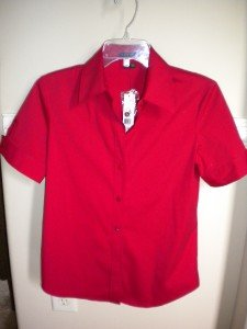 Theory Red Women Blouse Shirt Top Size S MSRP $190 NEW
