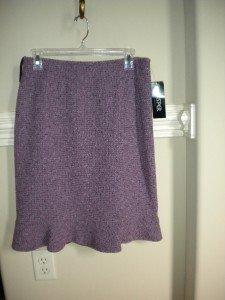 Kasper Women Purple Tweed Skirt Size 10P 10 Petite NEW