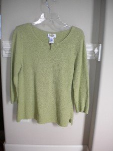 Talbots Green Women Ladies  Pullover Sweater Size L