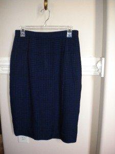 Dana Buchman Women Blue Black Skirt Size 12