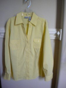 Chico's Yellow Women Ladies Blouse Shirt Top Size 1 = 8