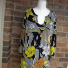 CHICO'S TRAVELERS Women Floral Top Sweater Size 3 XL 16 / 18