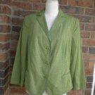 AKRIS Punto Women Green Lined Jacket Size 14 NEW Blazer 216007 F 46 D 44