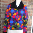 Cache Women Colorful Cardigan Sweater Size L