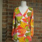CABI Women Colorful Wrap Top Style# 579 Size M