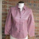 BANANA REPUBLIC Women 100% Leather Shirt Size XS S Mauve