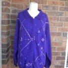 SHANNAN Beaded Angora Lambswool Cardigan Size M L Purple Women Sweater