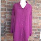 EILEEN FISHER Woman Burgundy Shirt Blouse Size 2X 3X 100% Rayon Top