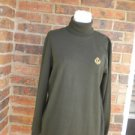 LAUREN RALPH LAUREN Women Green Turtleneck Size S Sweater 100% Cotton`