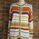 TALBOTS Women Southwest Cardigan Size S Sweater 100% Cotton