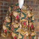 ALEX KIM ALLURE Women Quilt Colorful Jacket  Size M Coat