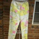Neiman Marcus Cotton Blend Floral Slacks Pants Women 6