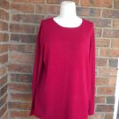 EILEEN FISHER Women Red Pullover Sweater Size M Medium Top