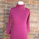 DANA BUCHMAN Women Pink Turtleneck Sweater Size S NEW