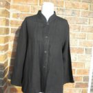 EILEEN FISHER Petite Linen Viscose Blouse Size PM P M Women Black Shirt