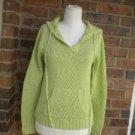 HAROLDS Women Green Hood Pullover Sweater Size S 100% Cotton Hoodie