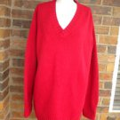 LAUREN RALPH LAUREN Red Women Heavy Sweater Size XL 1X Pullover V Neck