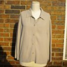 EILEEN FISHER Beige Blouse Size S M  Women Shirt Top