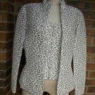 Flores & Flore Silk Leopard Jacket Vest Set 12 14 $400