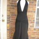 VERA WANG Party Cocktail Evening Halter Dress Size 10 M 44 NEW Black Formal
