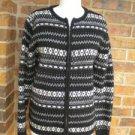 CHARTER CLUB Women 100% Lambswool Zip Cardigan Size S Lambs Wool