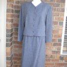 PENDLETON Vintage 100% Virgin Wool Skirt Suit Size 12 14 Gray Women Business