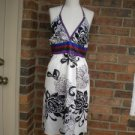 DOKI - GEKI Collection Silk Blend Halter Summer Sun Dress Size M L