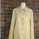ZANELLA Women Blazer Jacket Size 10 Lined Silk Linen Wool Yellow Plaid ITALY