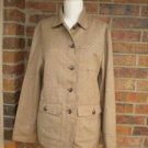 LAUREN RALPH LAUREN Brown Wool Blend Jacket Shirt Size S with Pockets