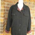 CHICO'S Women Black /Paisley Jacquard Jacket Coat Size 2 L 12 / 14 Pockets