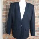 LORD & TAYLOR 100% Pure Wool Blazer Jacket Lined Size 14 Black