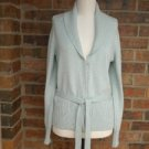 ANN TAYLOR Women Cardigan Sweater Size S Rayon Blend Belted Top Blue