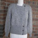 BEREK Women 100% Pure Wool Sweater Top Size M Beige Multi Side Buttons
