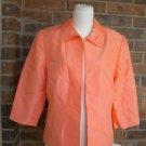 SHOMI by Miller Shor Women Peach 100% Silk Blazer Jacket Size 12 Lined NEW $208