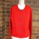 TALBOTS Petites Woman Cardigan Sweater Size XL Mercerized Cotton Top