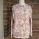 CYMBRION Women Wool Angora Floral Sweater Top Size M Made in Italy