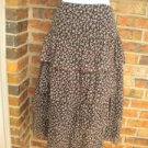 TIBI Women Floral 100% Silk Tiered Skirt Lined Size 8