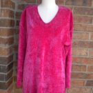 NEIMAN MARCUS Women 100% Rayon Tunic Top Shirt Size M Pink V Neck 3/4 Sleeve
