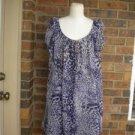 LIV Purple /Ivory Lined Studded Summer Sun Dress Size 10 NEW