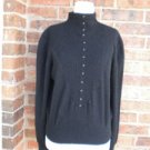 ALAIN MANOUKIAN Women Sweater Size M 2 Wool Angora Blend Black Top