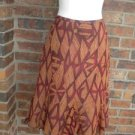 SAKS FIFTH AVENUE Made in ITALY 100% Silk  Skirt Size 42  US 8